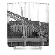 Stairs In The Sky In Black And White Shower Curtain