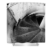 Stairs Leading Downward Into The Catacombs Of Paris France Shower Curtain