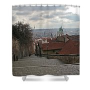 Stairs To Prague Shower Curtain
