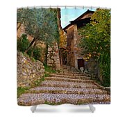 Stairs To The Village Shower Curtain