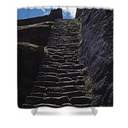 Stairway At Machu Picchu Shower Curtain
