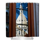 Stairway Dome Reflection Shower Curtain