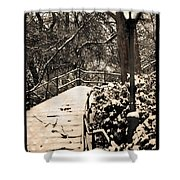 Stairway In Central Park On A Stormy Day Shower Curtain