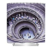 Stairway In Vatican Museum Shower Curtain