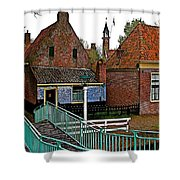 Stairway To Enkhuizen From The Dike-netherlands Shower Curtain