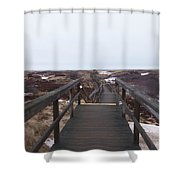 Stairway To The Atlantic Shower Curtain