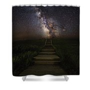 Stairway To The Galaxy Shower Curtain