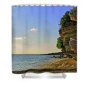 Stairway To The Sea Shower Curtain