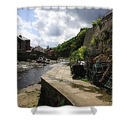 Staithes Harbour Shower Curtain