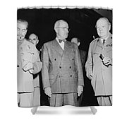 Stalin Truman And Churchill  Shower Curtain