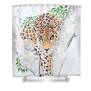 Stalker In The Trees Shower Curtain