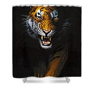 Stalking Tiger Shower Curtain