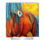 Stallions Concerto  Shower Curtain