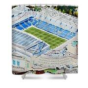 Stamford Bridge Stadia Art - Chelsea Fc Shower Curtain