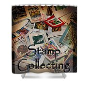 Stamp Colleting Shower Curtain