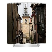 Stamped Bell Tower Shower Curtain