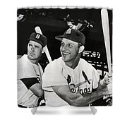 Stan Musial And Ted Williams Shower Curtain