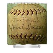 Stan Musial Autograph Baseball Shower Curtain