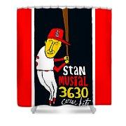 Stan Musial St Louis Cardinals Shower Curtain