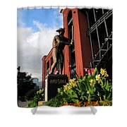 Stan Musial Statue Shower Curtain