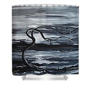 Stand Against The Wind Shower Curtain