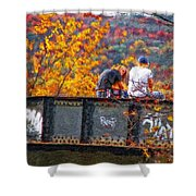 Stand By Me Impasto Shower Curtain