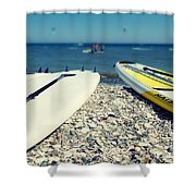 Stand Up Paddle Boards Shower Curtain