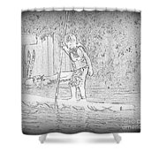 Stand Up Paddle  Shower Curtain