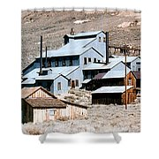 Standard Mill At Bodie Panorama Shower Curtain by Barbara Snyder