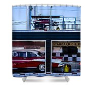 Standard Oil Products Shower Curtain