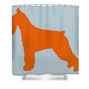 Standard Schnauzer Orange Shower Curtain