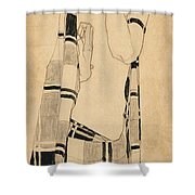 Standing Girl Shower Curtain