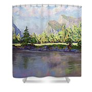 Standing Guard Over Yosemite Valley Shower Curtain