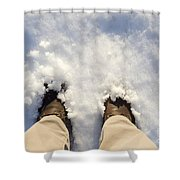 Standing In The Snow Shower Curtain