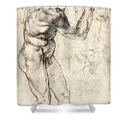 Standing Male Nude Shower Curtain