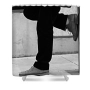 Standing Motion  Shower Curtain