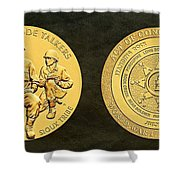 Standing Rock Sioux Tribe Code Talkers Bronze Medal Art Shower Curtain