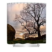Standing Stones, England Shower Curtain