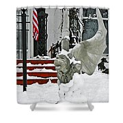 Standing Watch  Shower Curtain by Chris Berry