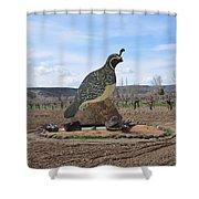 Standing Watch Of The Vineyard Shower Curtain