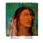 Stands Tall Shower Curtain by Johanna Elik