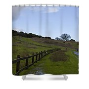 Stanford University The Dish Hiking Trail Shower Curtain
