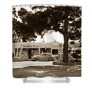 Stanifords Drug Store Ocean Ave.cor San Carlos Carmel Circa 1941 Shower Curtain