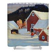 Stanley Kay Farm Shower Curtain