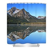 Stanley Lake Sawtooth Mountains Shower Curtain