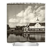 Star Barn Antiqued Shower Curtain