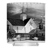 Star Barn Complex In Infrared Shower Curtain
