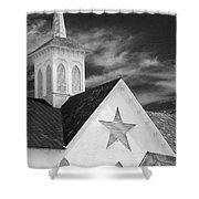 Star Barn Star Shower Curtain
