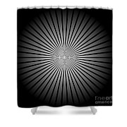Star Black Shower Curtain