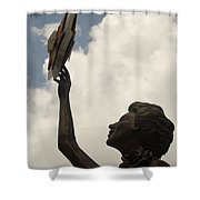 Star Clouds Sky Shower Curtain